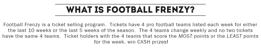 football frenzy sweepstakes fundraiser