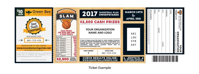 Basketball-Slam-fundraiser-ticket-green-bee-fundraising-profit-money-organization-sports-athletics-schools-churches