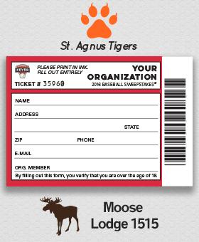 Baseball Fever Ticket Stub #BaseballFundraiser GreenBeeFundraising.com