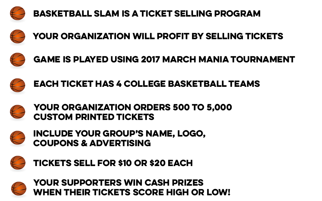 green bee basketball slam fundraiser money profit your organization