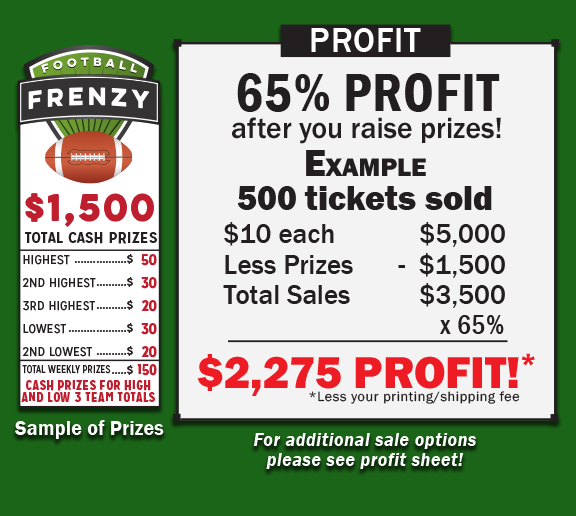 football frenzy fundraiser fundraising game profitable