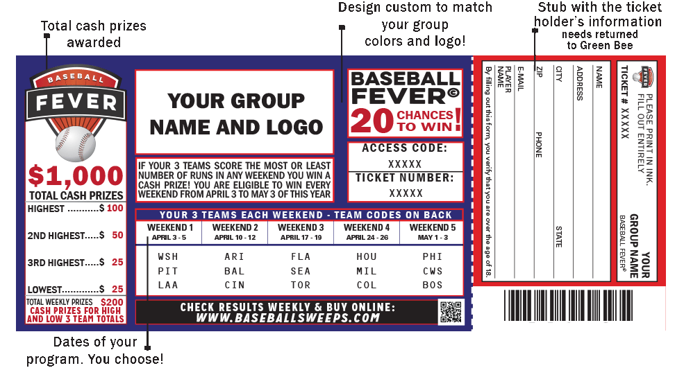 baseball fever ticket